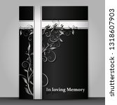 dark mourning card with 3d... | Shutterstock .eps vector #1318607903