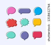 text balloons with different...   Shutterstock .eps vector #1318612766
