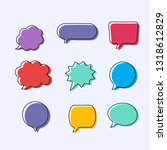 text balloons with different... | Shutterstock .eps vector #1318612829