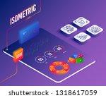 isometric vector. set of face... | Shutterstock .eps vector #1318617059