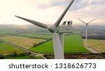 Aerial Photo Of Wind Turbines...