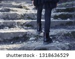 girl in black clothes and black ... | Shutterstock . vector #1318636529