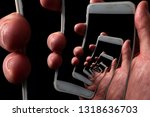 addictive social media and the... | Shutterstock . vector #1318636703