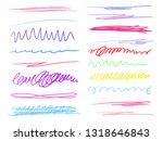 hand drawn colorful underlines... | Shutterstock .eps vector #1318646843