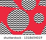 zigzag seamless pattern with... | Shutterstock .eps vector #1318654019