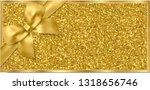 golden ticket  gift voucher ... | Shutterstock .eps vector #1318656746