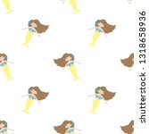 seamless summer pattern with... | Shutterstock .eps vector #1318658936
