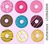 set donut vector illustraion | Shutterstock .eps vector #1318663646