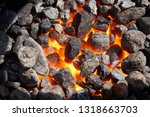 a brazier heated in the... | Shutterstock . vector #1318663703