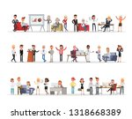 set of business people working... | Shutterstock .eps vector #1318668389