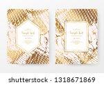 snake print invitation cards... | Shutterstock .eps vector #1318671869