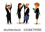 successful business partners... | Shutterstock .eps vector #1318674500