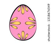 isolated colored easter egg.... | Shutterstock .eps vector #1318676549