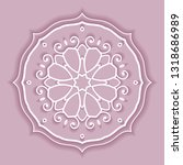 mandala isolated design element ... | Shutterstock .eps vector #1318686989