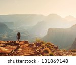 hike in grand canyon | Shutterstock . vector #131869148