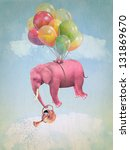 Pink Elephant In The Sky With ...