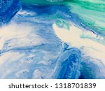 colorful abstract art acrylic... | Shutterstock . vector #1318701839