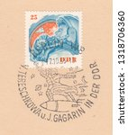 germany circa 1963  a stamp...   Shutterstock . vector #1318706360