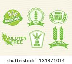 gluten free and wheat free... | Shutterstock .eps vector #131871014