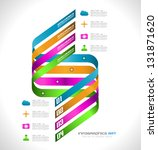 infographic design template... | Shutterstock . vector #131871620