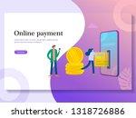 online payment illustration...