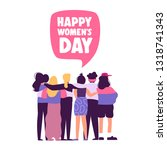 happy womens day illustration.... | Shutterstock .eps vector #1318741343