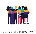 diverse women friend group... | Shutterstock .eps vector #1318741673