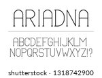 trendy font. minimalistic style ... | Shutterstock .eps vector #1318742900