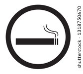 smoke area icon on white... | Shutterstock .eps vector #1318750670