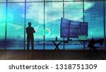 silhouette of a trader in the... | Shutterstock . vector #1318751309