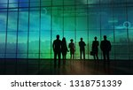 a team of traders is exploring... | Shutterstock . vector #1318751339
