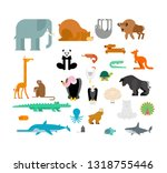 animals set. beast collection.... | Shutterstock .eps vector #1318755446