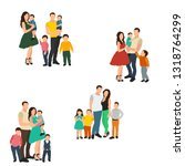 family  parents and children ... | Shutterstock .eps vector #1318764299