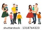 parents and children  set | Shutterstock .eps vector #1318764323