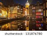 Amsterdam Street At Night