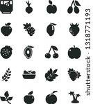 solid black vector icon set  ... | Shutterstock .eps vector #1318771193