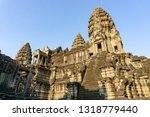 the interior of angkor wat ... | Shutterstock . vector #1318779440