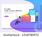 e wallet vector illustration ...