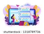 tiny people customers rating...   Shutterstock .eps vector #1318789736