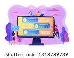 tiny business people using...   Shutterstock .eps vector #1318789739