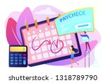calendar with payday ... | Shutterstock .eps vector #1318789790
