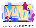 tiny people stock traders at...   Shutterstock .eps vector #1318789793