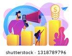 economist with megaphone ...   Shutterstock .eps vector #1318789796