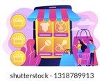 tiny people customers buy...   Shutterstock .eps vector #1318789913