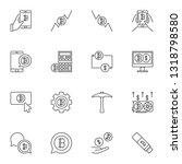 vector blockchain concept icons ...   Shutterstock .eps vector #1318798580