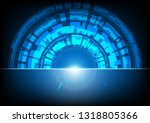 abstract technology bacground... | Shutterstock .eps vector #1318805366