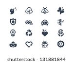 environment icons | Shutterstock .eps vector #131881844