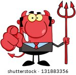 smiling devil boss with a... | Shutterstock .eps vector #131883356