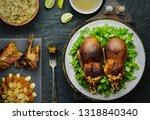 arabic cuisine  egyptian... | Shutterstock . vector #1318840340