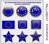 bright set of buttons with flag ... | Shutterstock .eps vector #1318877786